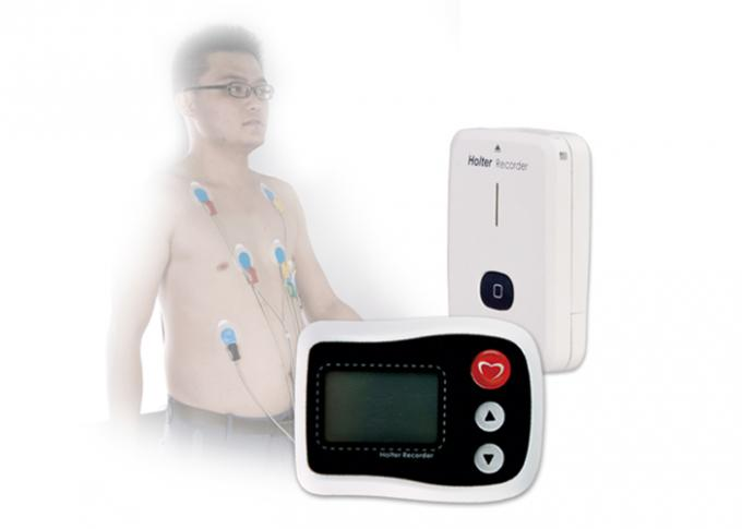 LCD Display Screen Holter Monitor And ECG Analysis Software 24 Hours Record Time 0
